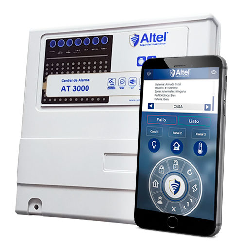 Altel Alarmas CENTRAL DE ALARMA AT-3000 / GSM/SMS